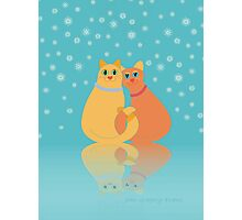 Winter Cats Photographic Print