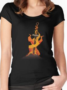 The Coiled Sword  Women's Fitted Scoop T-Shirt