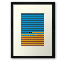 Line cycle Framed Print
