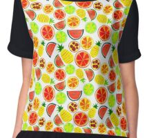 Tropical Fruit Chiffon Top