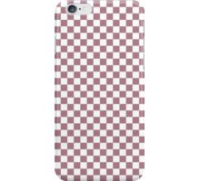 Princess Plum and White Classic Checkerboard Repeating Pattern iPhone Case/Skin
