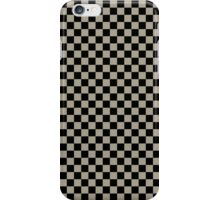 Pussy Willow and Black Classic Checkerboard Repeating Pattern iPhone Case/Skin