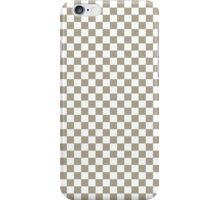 Pussy Willow and White Classic Checkerboard Repeating Pattern iPhone Case/Skin