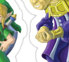 Link and the Happy Mask Salesman, no background Sticker
