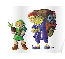 Link and the Happy Mask Salesman, no background Poster