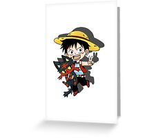 Luffy x Litten Greeting Card