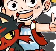 Luffy x Litten Sticker