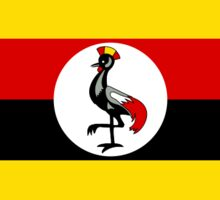 Uganda Flag Stickers Sticker