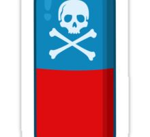 Deadly but Colorful. Pills Pattern Sticker