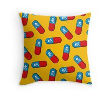 Deadly but Colorful. Pills Pattern Throw Pillow