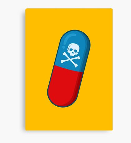 Deadly but Colorful. Pills Pattern Canvas Print