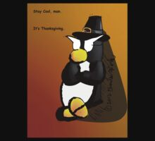 Penguin Card - Thanksgiving One Piece - Long Sleeve
