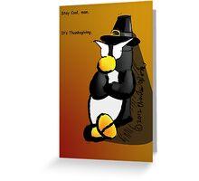 Penguin Card - Thanksgiving Greeting Card
