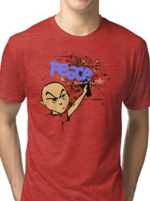 Peace Graffiti - Grunge  Tri-blend T-Shirt