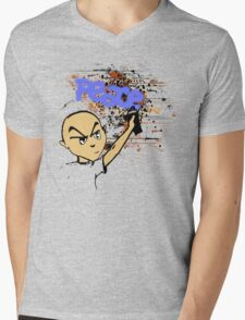 Peace Graffiti - Grunge  Mens V-Neck T-Shirt