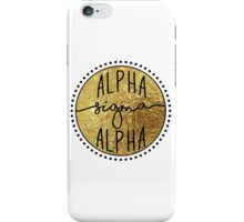 Alpha Sigma Alpha iPhone Case/Skin