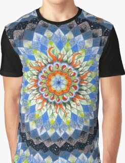 Mandala in Space Graphic T-Shirt