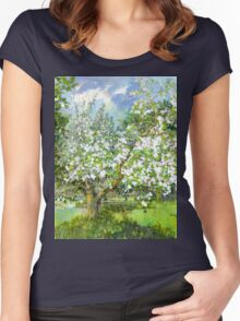Blossoming garden Women's Fitted Scoop T-Shirt