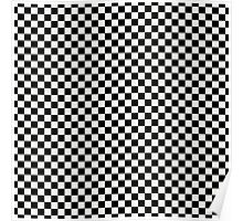 Lace Cap White and Black Classic Checkerboard Repeating Pattern Poster