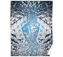 Blue sky in crystals Poster