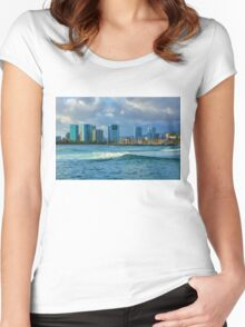 Honolulu Turquoise - Impressions of Hawaii Women's Fitted Scoop T-Shirt