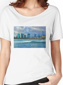 Honolulu Turquoise - Impressions of Hawaii Women's Relaxed Fit T-Shirt