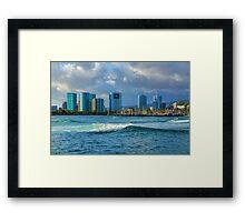Honolulu Turquoise - Impressions of Hawaii Framed Print