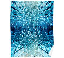 Blue water in crystals Poster
