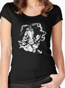 Nerdy Ganesha Women's Fitted Scoop T-Shirt