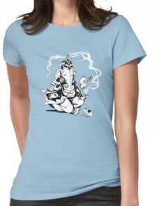 Nerdy Ganesha Womens Fitted T-Shirt
