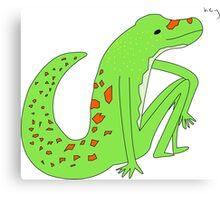 gecko saying hey Canvas Print