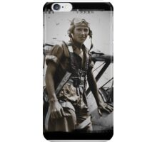 WWI Pilot Beside His Plane iPhone Case/Skin