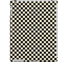 Gardenia Cream and Black Classic Checkerboard Repeating Pattern iPad Case/Skin