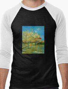 'Orchard' by Vincent Van Gogh (Reproduction) Men's Baseball ¾ T-Shirt