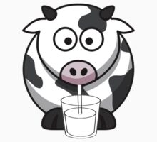 Cow Drinking Milk Baby Tee
