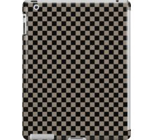 Mulch Brown and Black Classic Checkerboard Repeating Pattern iPad Case/Skin
