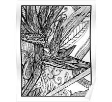 Wild Bird - Bird of Paradise Ink Drawing Poster
