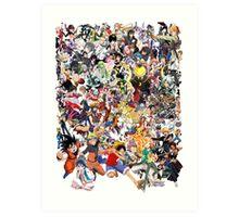 Anime mix - All Animes (Allstar Anime) Art Print