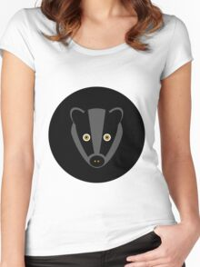 Black Badger Women's Fitted Scoop T-Shirt