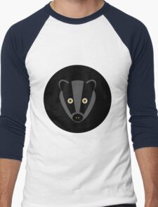 Black Badger Men's Baseball ¾ T-Shirt