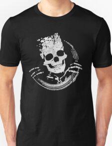 Grunge Skeleton Funny Skull Design T-Shirt