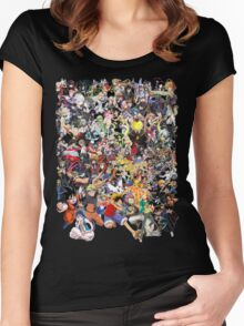 Anime mix - All Animes (Allstar Anime) Women's Fitted Scoop T-Shirt