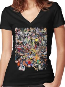 Anime mix - All Animes (Allstar Anime) Women's Fitted V-Neck T-Shirt