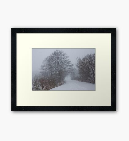 Snowstorm Magic Framed Print