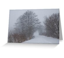 Snowstorm Magic Greeting Card