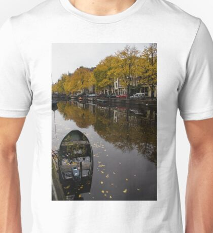 Autumn in Amsterdam - the Abandoned Boat Unisex T-Shirt