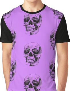 Purple Skull Graphic T-Shirt