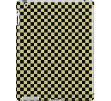 Fern Green and Black Classic Checkerboard Repeating Pattern iPad Case/Skin
