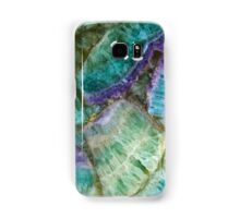 Colorful Fluorite semi precious gemstone stone texture Samsung Galaxy Case/Skin