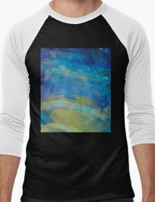 Sunrise Fire Opal, Abstract colourful stone art Men's Baseball ¾ T-Shirt
